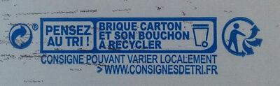 Soja nature sans sucre ajouté bio - Istruzioni per il riciclaggio e/o informazioni sull'imballaggio - fr