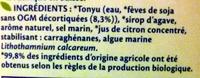 Soja Douceur Et Calcium Bio - Ingredients