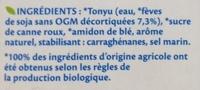 Soja Dessert Vanille Bio - Ingredients