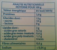 Soja Dessert Vanille Bio - Nutrition facts