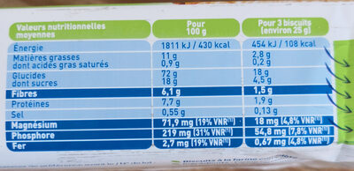 P'tit Nature Complet - Nutrition facts - fr