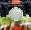 Galettes de riz - 200 g - Tien Shan - Produit