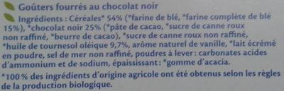 Fourrés Chocolat noir BIO - Ingredients