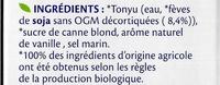 Soja Vanille Bio - Ingrédients