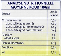 Soja Vanille Bio - Nutrition facts