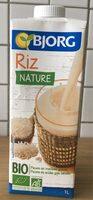 Boisson Riz Nature Bio - Produit - fr