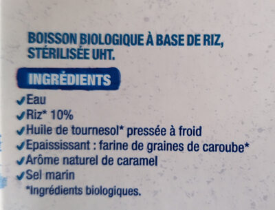 Boisson Riz nature - Ingredienti - fr