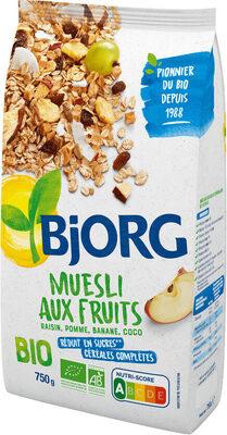 Museli aux fruits - raisin, pomme, banane, coco - Produit - fr