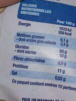 Muesli aux fruits bio - Información nutricional - fr