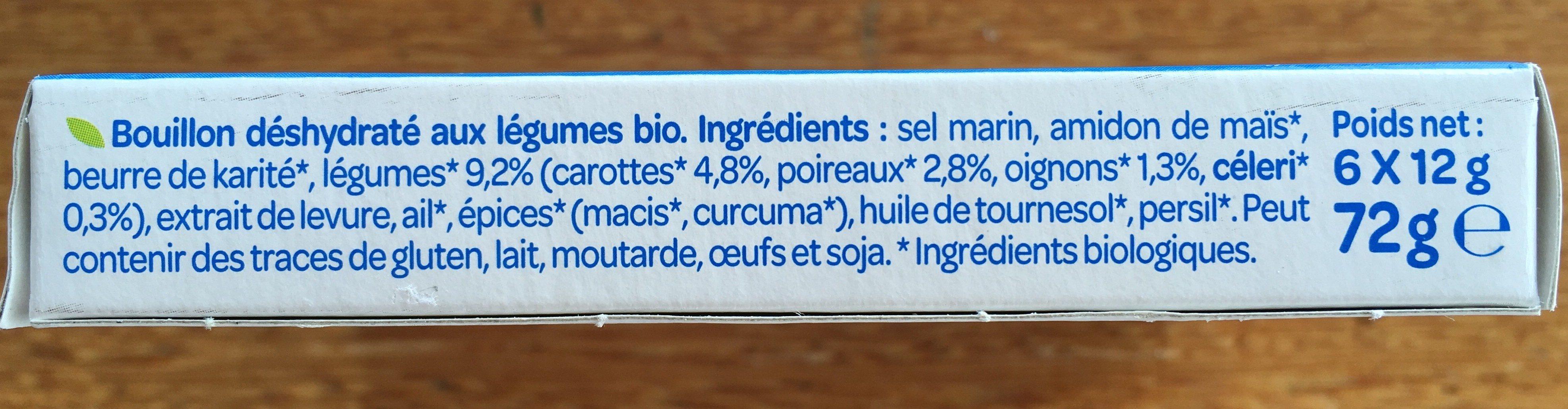 Bouillon cube légumes - Ingredientes - fr