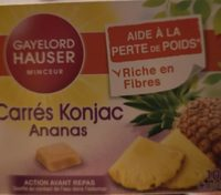 Carrés Konjac Ananas Gayelord Hauser - Produit