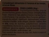 Carrés Konjac Ananas Gayelord Hauser - Ingrédients