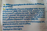 Muesli Raisin, Figue, Abricot - Ingredients - fr