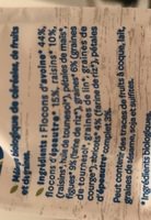Muesli sans sucre ajouté* Bio - Ingredients