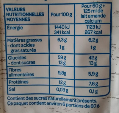 Muesli Raisin, Figue, Abricot - Nutrition facts - fr
