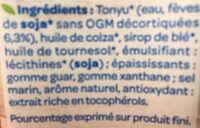 Soja Cuisine fluide - Ingredients - fr