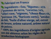 Soupe Mouliné Campagnard Bio - Ingrediënten - fr