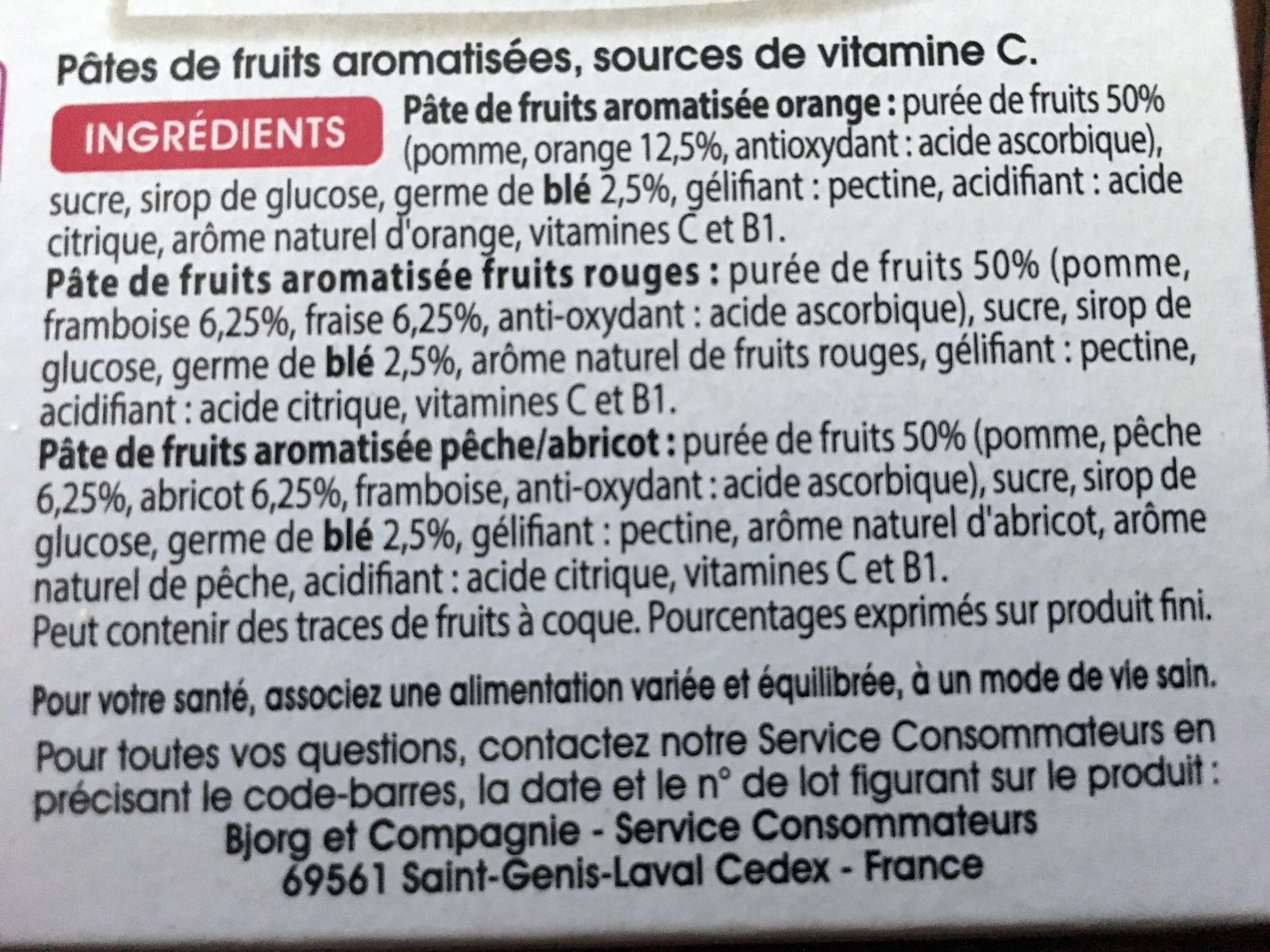 Pâtes de fruits - Ingredienti - fr