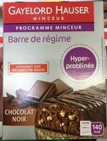 Barre de régime hyper-protéinée Chocolat Noir - Produit - fr