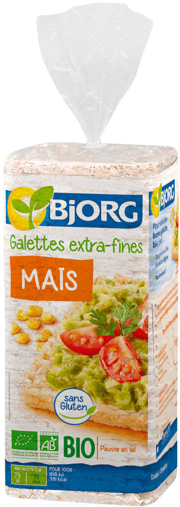 Galettes maïs extra fines - Produit - fr