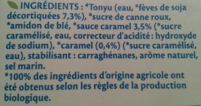 Soja Dessert Caramel Bio - Ingredients