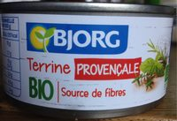 Terrine provençale bio - Produit
