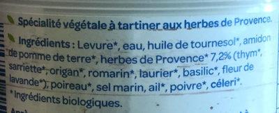 Terrine provençale bio - Ingrédients