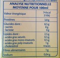 Soja Chocolat Bio - Informations nutritionnelles