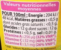 Cranberry sans sucres ajoutés - Voedigswaarden
