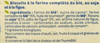 Biscuits Soja Figue - Ingrédients - fr