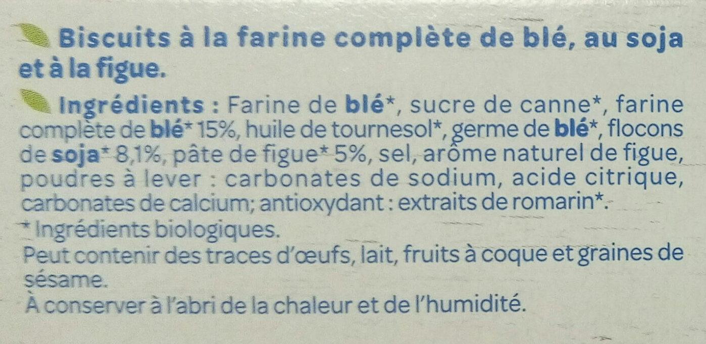 Soja Figue Bio - Ingredients