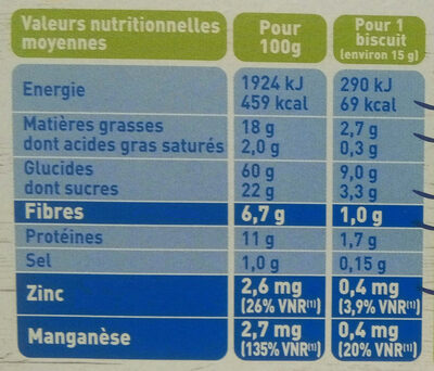 Soja Figue Bio - Nutrition facts