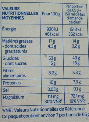 Croustillant chocolat - Voedingswaarden - fr