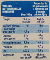 Croustillant chocolat - Nutrition facts - fr