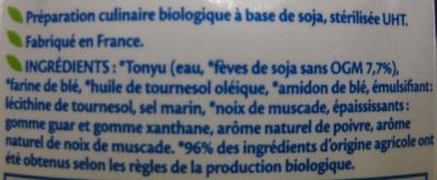 Soja Gratin Bio - Ingredients