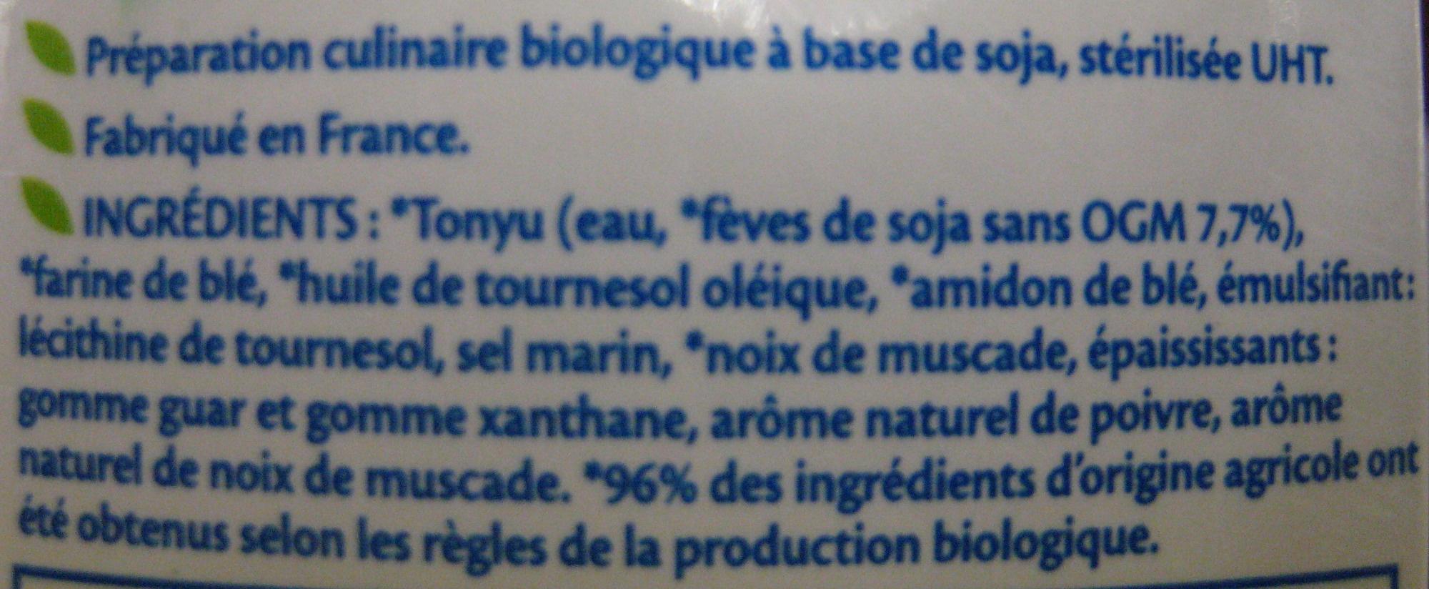 Soja Gratin Bio - Ingredients - fr