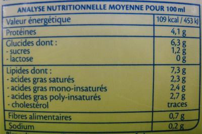Soja Gratin Bio - Nutrition facts - fr