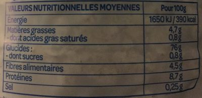 Galettes riz sésame - Voedingswaarden - fr