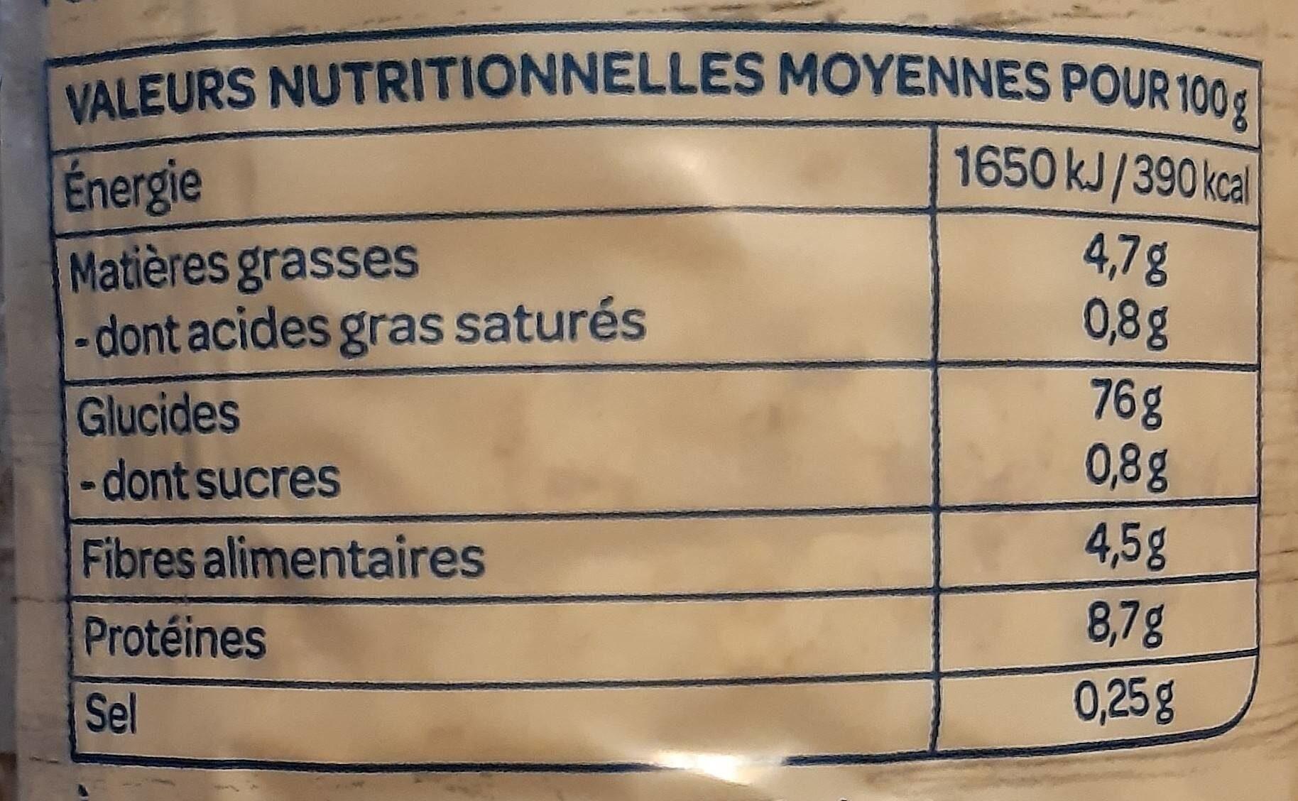 Galettes riz sésame - Informations nutritionnelles - fr