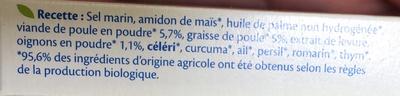 Bouillon cube volaille Bio - Ingredients - fr