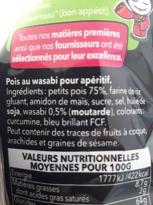 Pois wasabi - Ingredienti - fr