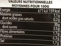 Ramen soja caramel - Nutrition facts