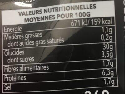 Ramen soja caramel - Valori nutrizionali - fr