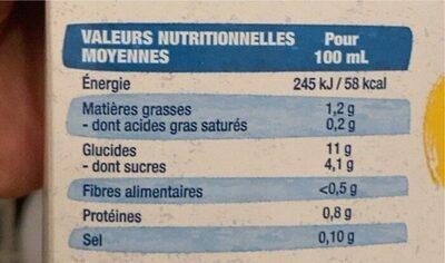 Boisson épeautre sans sucres ajoutés - Informations nutritionnelles - fr