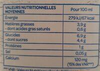Boisson noisettes calcium - Nutrition facts - fr