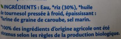 Riz Cuisine Bio Bjorg - Ingredients - fr