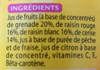 Jus de grenade - Ingredients - fr