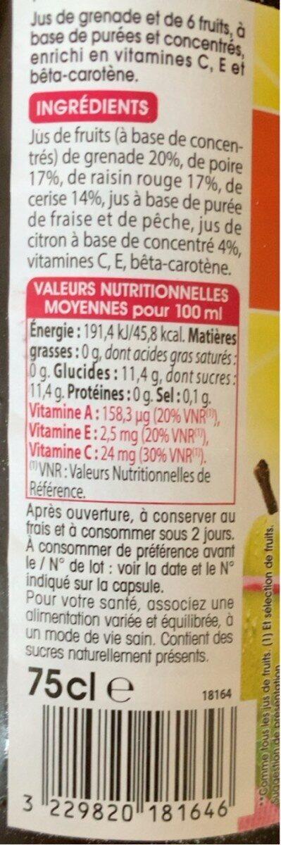 Jus de grenade - Voedingswaarden - fr