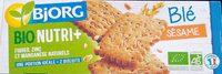 Biscuits à la farine de blé et aux graines de sésame bio - Product - fr