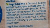 Quinoa tomates olives - Ingrédients - fr